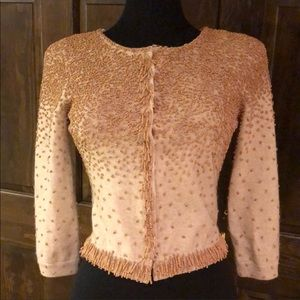 🌸 LaRok Gorgeous beaded cashmere blend sweater